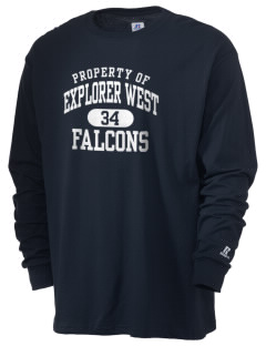 Explorer West Middle School Falcons  Russell Men's Long Sleeve T-Shirt