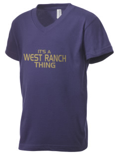 West Ranch High School Wildcats Kid's V-Neck Jersey T-Shirt