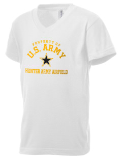 Hunter Army Airfield Kid's V-Neck Jersey T-Shirt