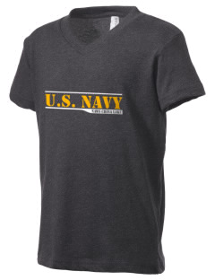 China Lake Naval Air Weapons Station Kid's V-Neck Jersey T-Shirt