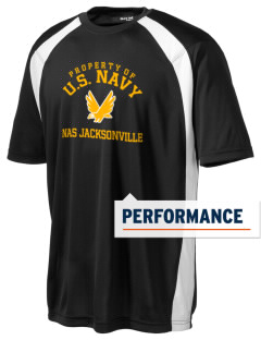 Jacksonville Naval Air Station Men's Dry Zone Colorblock T-Shirt
