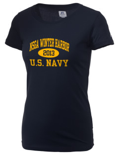 Winter Harbor Naval Security Group Activity  Russell Women's Campus T-Shirt