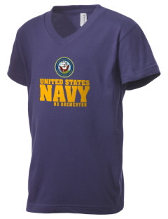 Bremerton Naval Station Kid's V-Neck Jersey T-Shirt