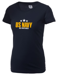 Diego Garcia Atoll Navy Support Facility  Russell Women's Campus T-Shirt