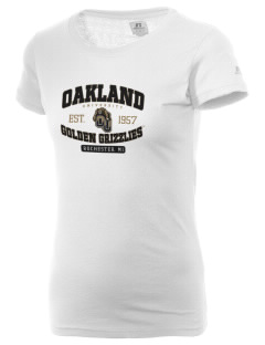 Oakland University Golden Grizzlies  Russell Women's Campus T-Shirt