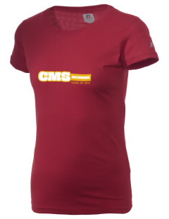 Claremont-Mudd-Scripps Men's Athletics Stags  Russell Women's Campus T-Shirt