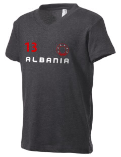 Albania Kid's V-Neck Jersey T-Shirt