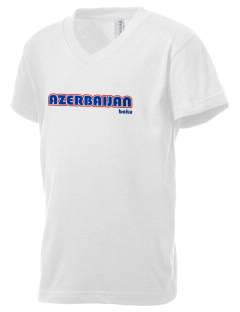 Azerbaijan Kid's V-Neck Jersey T-Shirt