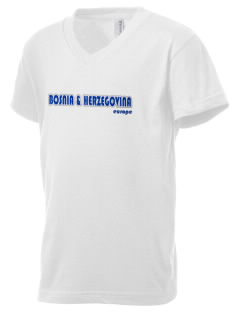 Bosnia & Herzegovina Kid's V-Neck Jersey T-Shirt
