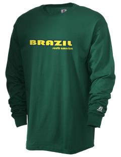 Brazil  Russell Men's Long Sleeve T-Shirt