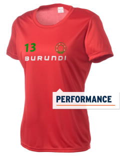Burundi Women's Competitor Performance T-Shirt