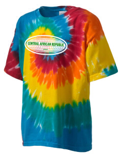 Central African Republic Kid's Tie-Dye T-Shirt