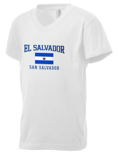 El Salvador Kid's V-Neck Jersey T-Shirt