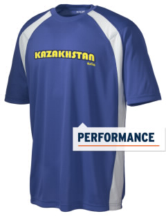Kazakhstan Men's Dry Zone Colorblock T-Shirt