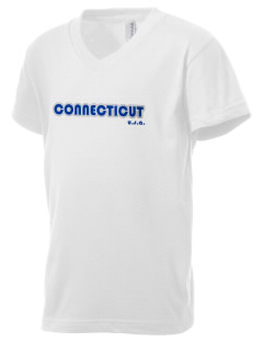 Connecticut Kid's V-Neck Jersey T-Shirt