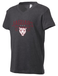 Seminole Heights Charter High School Jaguars Kid's V-Neck Jersey T-Shirt