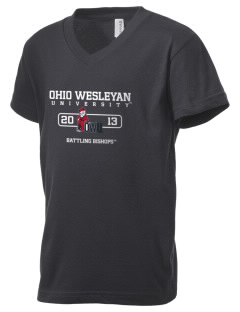 Ohio Wesleyan University Battling Bishops Kid's V-Neck Jersey T-Shirt
