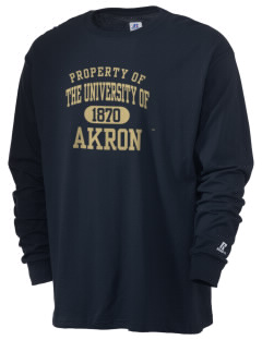 The University of Akron Zips  Russell Men's Long Sleeve T-Shirt