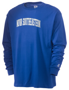 Nova Southeastern University Sharks  Russell Men's Long Sleeve T-Shirt
