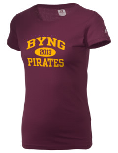 Byng Junior High School Pirates  Russell Women's Campus T-Shirt