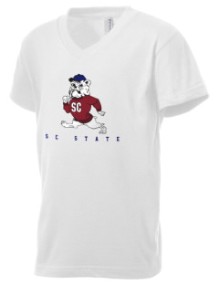 South Carolina State University Bulldogs Kid's V-Neck Jersey T-Shirt