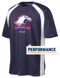 American University Eagles Men's Dry Zone Colorblock T-Shirt