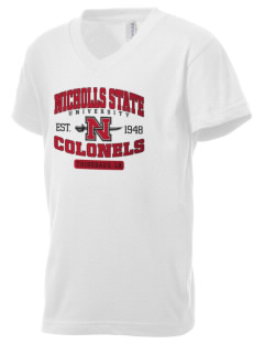 Nicholls State University Colonels Kid's V-Neck Jersey T-Shirt