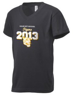 Oakland Unity High School Tigers Kid's V-Neck Jersey T-Shirt