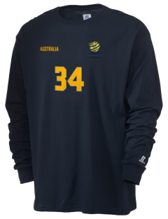 Australia Soccer  Russell Men's Long Sleeve T-Shirt