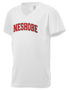 Neshobe Elementary School Braves Kid's V-Neck Jersey T-Shirt