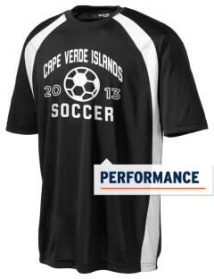 Cape Verde Islands Soccer Men's Dry Zone Colorblock T-Shirt