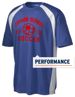 Cayman Islands Soccer Men's Dry Zone Colorblock T-Shirt