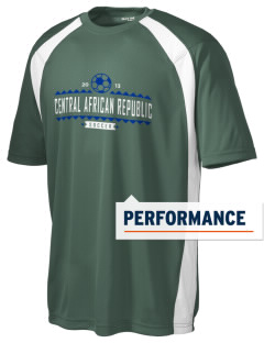 Central African Republic Soccer Men's Dry Zone Colorblock T-Shirt