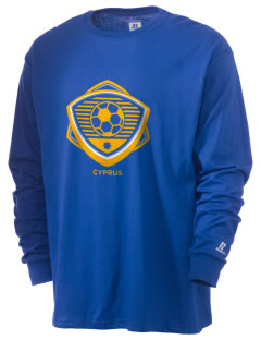 Cyprus Soccer  Russell Men's Long Sleeve T-Shirt