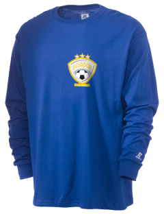 Ecuador Soccer  Russell Men's Long Sleeve T-Shirt
