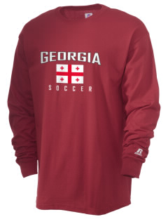 Georgia Soccer  Russell Men's Long Sleeve T-Shirt
