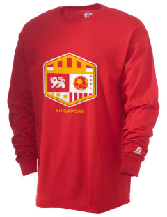 Singapore Soccer  Russell Men's Long Sleeve T-Shirt