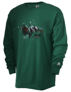 St. Kitts and Nevis Soccer  Russell Men's Long Sleeve T-Shirt