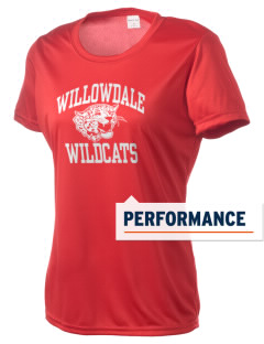 Willowdale Elementary School Wildcats Women's Competitor Performance T-Shirt