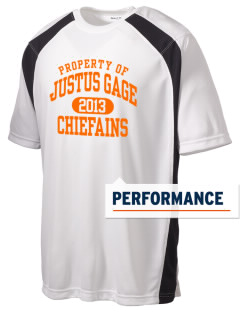Justus Gage Elementary School Chiefains Men's Dry Zone Colorblock T-Shirt