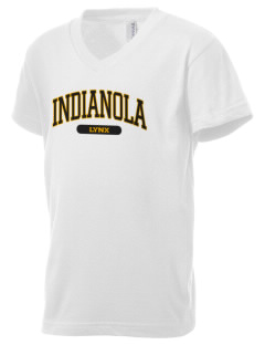 Indianola Junior High School Lynx Kid's V-Neck Jersey T-Shirt