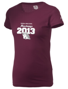 Marshall Middle School Mustangs  Russell Women's Campus T-Shirt