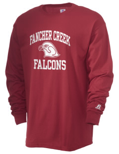 Fancher Creek Elementary School Falcons  Russell Men's Long Sleeve T-Shirt