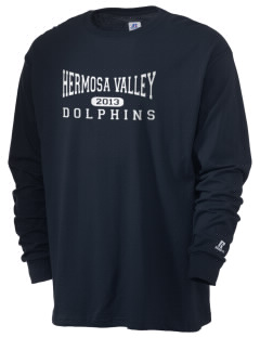 Hermosa Valley School Dolphins  Russell Men's Long Sleeve T-Shirt