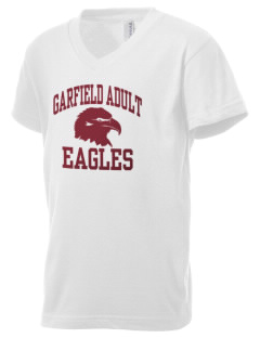Garfield Adult Center Eagles Kid's V-Neck Jersey T-Shirt