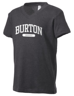 Burton Elementary School Bears Kid's V-Neck Jersey T-Shirt