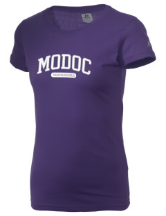 Modoc Middle School Warriors  Russell Women's Campus T-Shirt
