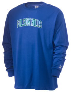 Folsom Hills Elementary School Foxes  Russell Men's Long Sleeve T-Shirt