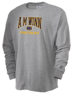 A M Winn Elementary School Panthers  Russell Men's Long Sleeve T-Shirt