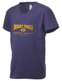 Desert Trails Elementary School Coyotes Kid's V-Neck Jersey T-Shirt